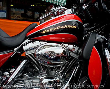 Harley Davidson motorbikes at Sheringham Carnival