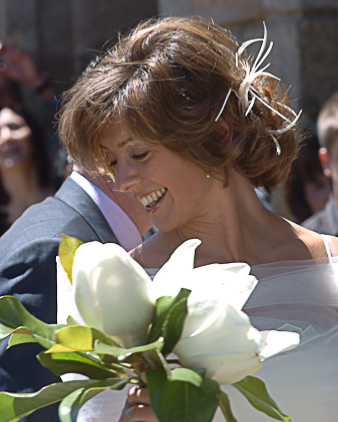 Raidiant and beautiful Milanese bride
