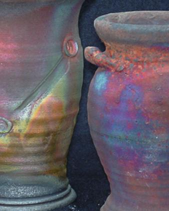 Raku pottery by Heidi Gibbs