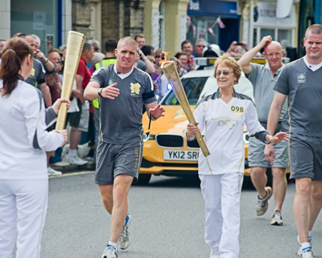 Olympic Torch relay in Cromer, North Norfolk