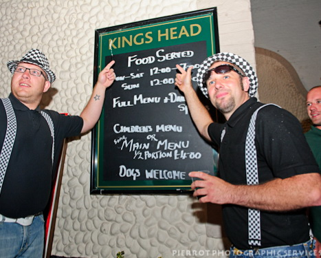 Cromer carnival fancy dress Kings Head menu board