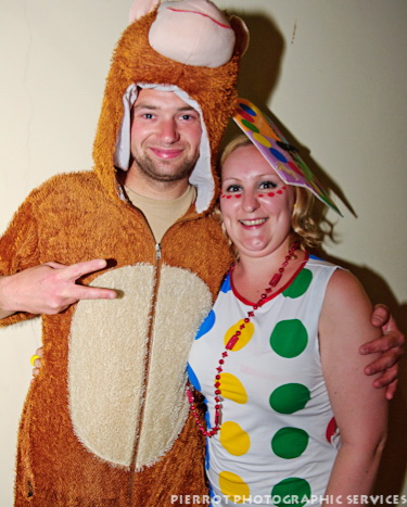 Cromer carnival fancy dress bear with lady in spots