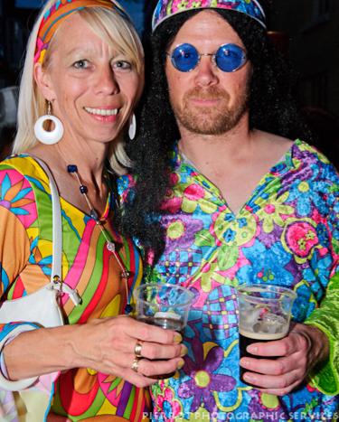 Cromer carnival fancy dress flower power couple 