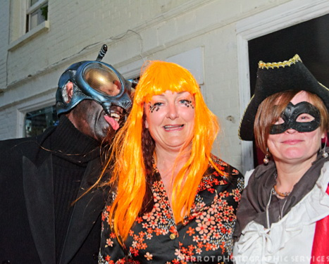 Cromer carnival fancy dress the fly with two victims