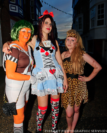 Cromer carnival fancy dress three girls in fancy dress