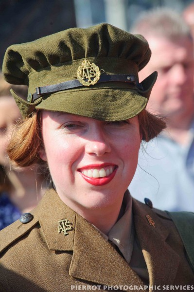 Pretty girl in uniform at the 1940s weekend in Sheringham 2012