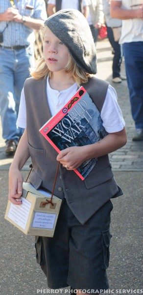 Young evacuee at the 1940s weekend in Sheringham