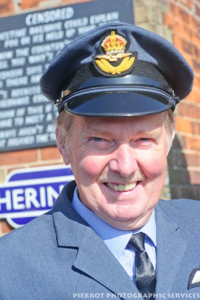 RAF officer at the 1940s weekend at Sheringham 2012