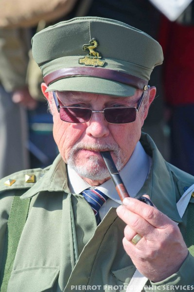 Man in military uniform at the 1940s weekend in Sheringham 2012