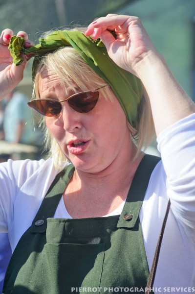 Land girl at the 1940s weekend in Sheringham, North Norfolk 2012