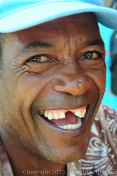 Local Haitian character in the market in Sanama Dominican Republic