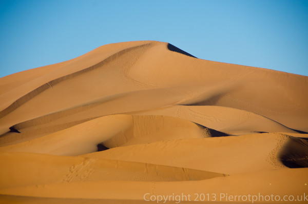 Moroccan bucket list completed - sand dunes in the Sahara desert, Morocco.