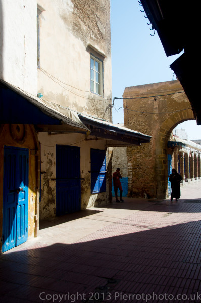 Street in the medina of Essaouira, Morocco