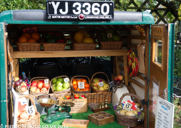 1940s weekend in Sheringham North Norfolk 2014 - 1940s fruit merchant's van