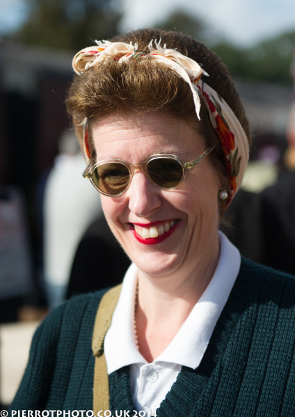1940s weekend in Sheringham North Norfolk 2014 - attractive smiling land girl