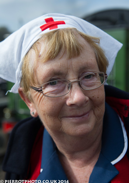 1940s weekend in Sheringham North Norfolk 2014 - nurse