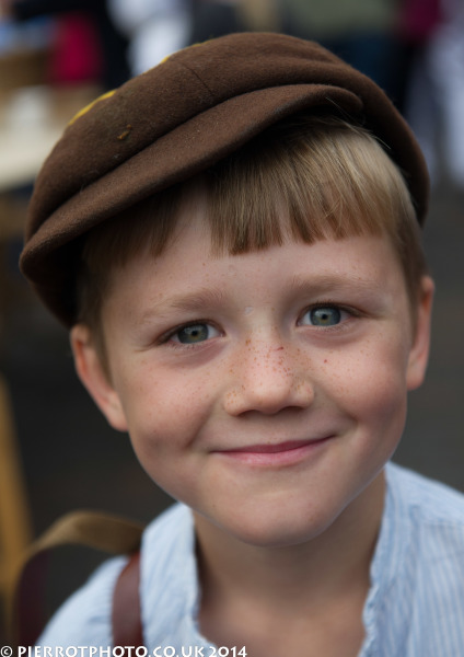 1940s weekend in Sheringham North Norfolk 2014 - mischievous evacuee