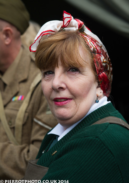 1940s weekend in Sheringham North Norfolk 2014 - land girl