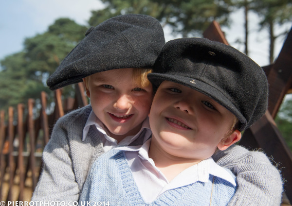 1940s weekend in Sheringham North Norfolk 2014 - evacuee brothers