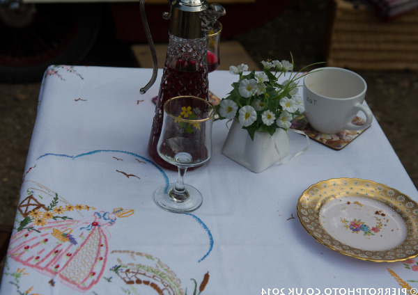 1940s weekend in Sheringham North Norfolk 2014 - table set for supper