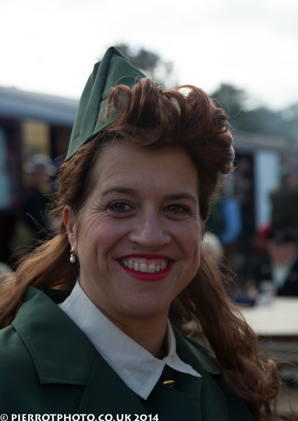 1940s weekend in Sheringham North Norfolk 2014 - smiling woman