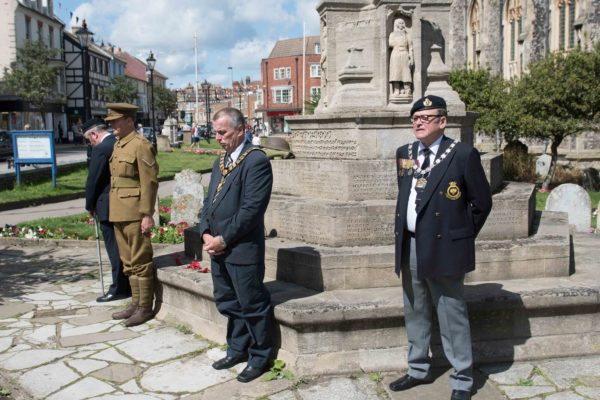 Volunteers standing as honour guards at the Cromer war memorial in intervals of up to one hour, from 6pm on Sunday, through the night, to midday on Monday.
