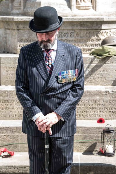 Volunteer standing as honour guards at the Cromer war memorial in intervals of up to one hour, from 6pm on Sunday, through the night, to midday on Monday.