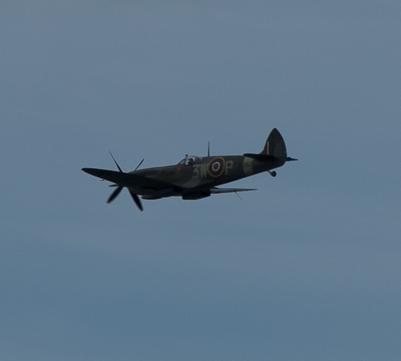 Spitfire flying over Sheringham