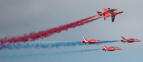Impressive Red Arrows display team at Cromer carnival