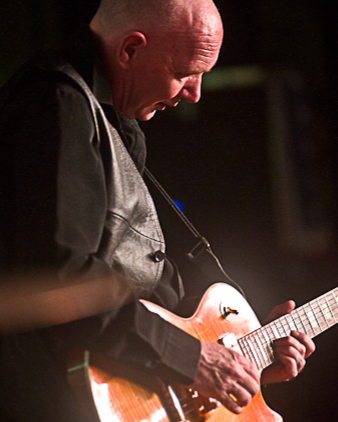 Guitarist at a rock and roll event in Mundesley North Norfolk