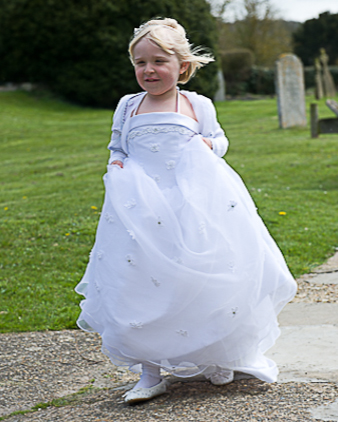 Beautiful bridesmaid at Herfordshire wedding