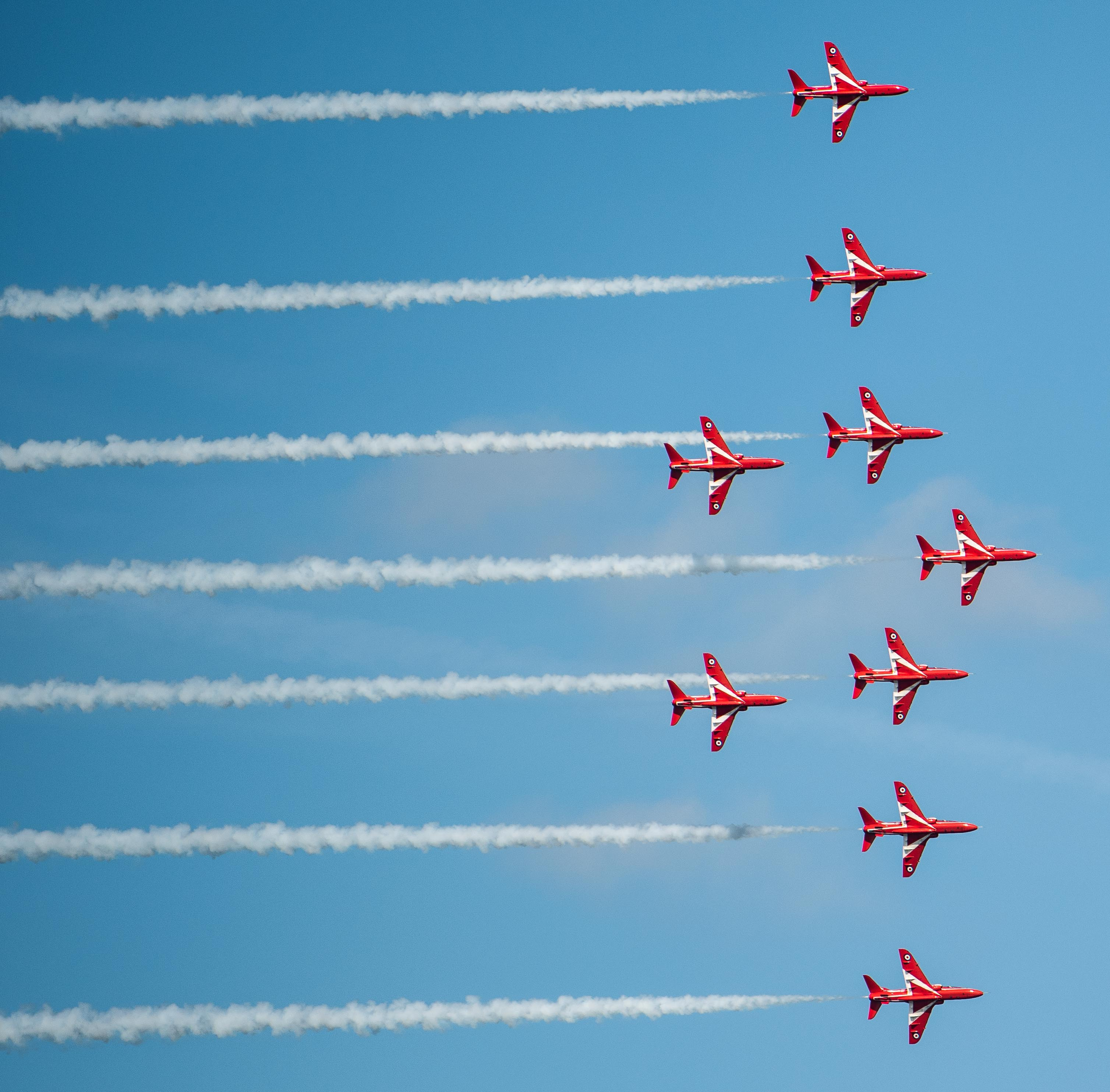 The Red Arrows appear at Cromer carnival.